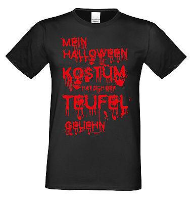 Mein Halloween Kostüm hat sich der Teufel geliehn Shirt Herren  Farbe: (Der Teufel Kostüm)