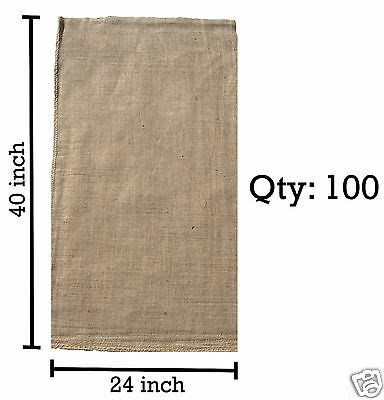 (100) 24 x 40 Burlap Bags Wholesale Bulk - Sacks Potato Race Sandbags Home Depot