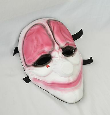 Resin Replica Payday 2 Hoxton Mask With Stripe Halloween PROP Cosplay - Halloween 2 Replica Mask