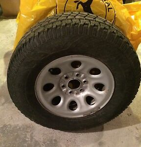 Truck Snow Tires on Rims + TPMS : 265/70 R17 : fits Yukon