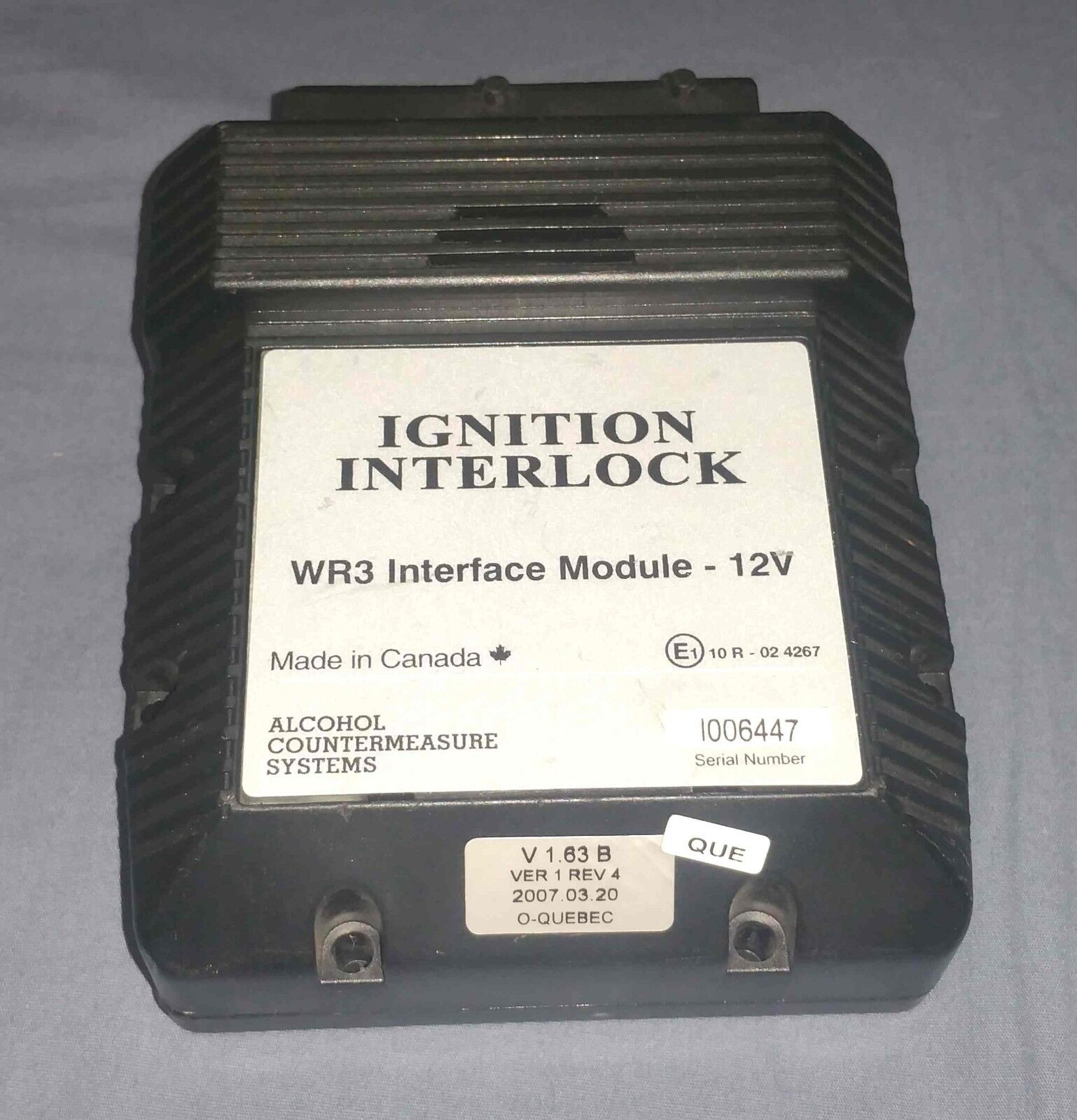 Ignition Interlock WR3 Interface Module - 12V - Alcohol Countermeasure Systems