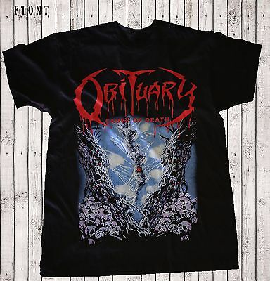 OBITUARY-Cause of Death-Death metal-Deicide-Death ,T-shirt-SIZES: S to 7XL