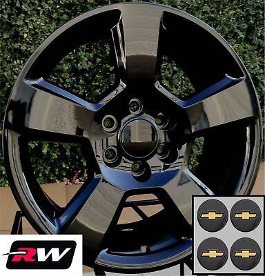 "20"" inch 20 x9"" Wheels for Chevy Silverado Gloss Black Tahoe LT Midnight Edition"