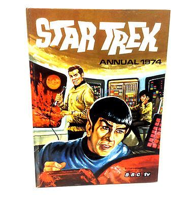 British UK STAR TREK Hardback Comic annual 1974, Near Mint - Rare Condition