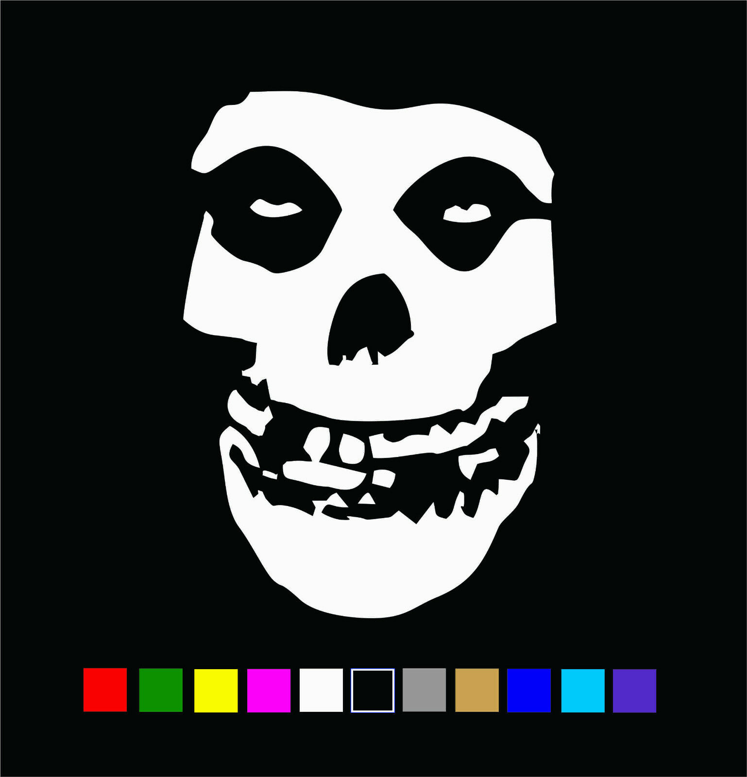 Home Decoration - Misfits Skull Vinyl Die Cut Decal Sticker Fiend