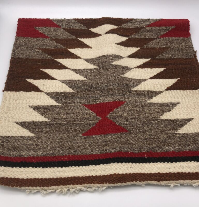 """Navajo Fringed Gallup Throw Rug 35 1/2 """" Long x 18"""" Wide"""