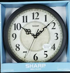 Sharp Quartz Vintage Antique Looking Parchment Face Country Style Wall Clock