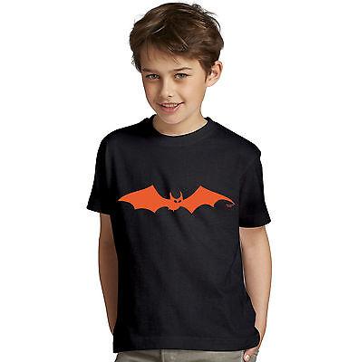 Fledermaus Kostüme Jungen (Fledermaus Halloween Kinder Fun Kostüm T-Shirt Jungen Teenager Farbe: schwarz)