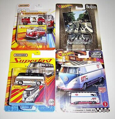 Matchbox Hot Wheels Volkswagen VW Buses LOT OF 4! Urban Outlaw, Beatles, Micro