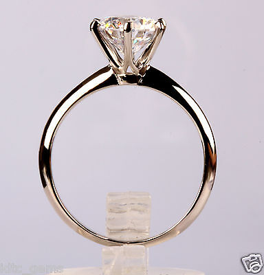 2.00 Ct D/VS2 Round Cut Solitaire Engagement Ring 14K White Gold OFFER NR