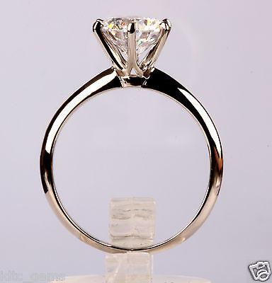 2.00 Ct D/VS2 Round Cut Diamond Engagement Ring 14K White Gold OFFER NR