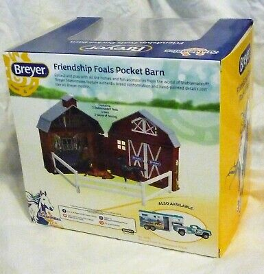 Friendship Foals Pocket Barn 1/32 Scale Model Set From Stablemates by Breyer
