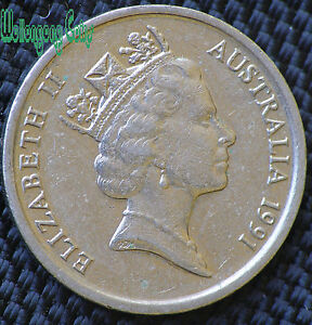 Great combined postage deal. 1991 ten 10 cent coin. Very low mintage