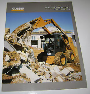 Case-40XT-60XT-70XT-75XT-Skid-Steer-Loader-Sales-Brochure-Literature-NEW-NOS