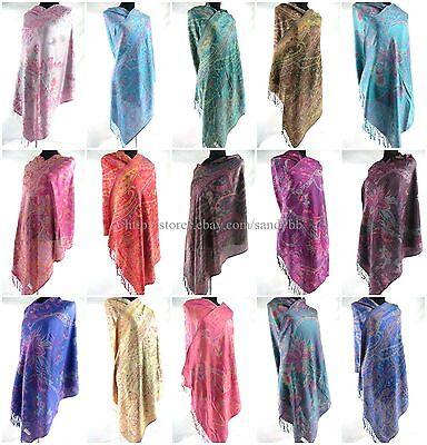 US SELLER-12pcs fashion women pashmina paisley shawl scarf
