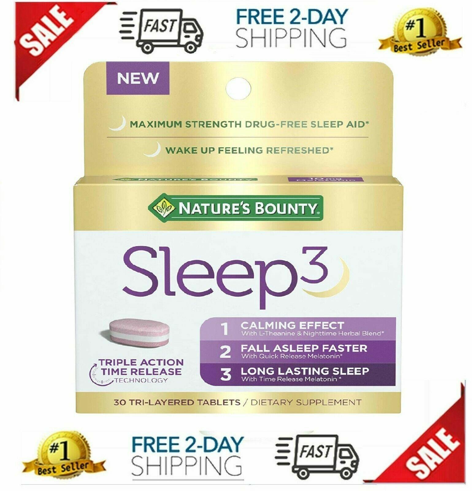 nature s bounty sleep3 melatonin 10mg herbal
