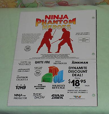 Vintage Trans World Entertainment Advertisement Brochure Ninja Phantom Heroes