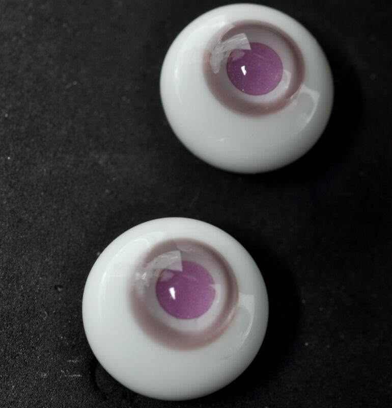 New 12MM Pink Pupil Glass BJD Eyes Outfit for BJD AOD DD Doll Volks Luts Dollfie