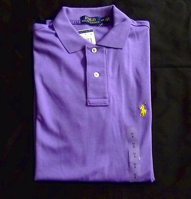 Nwt Men Ralph Lauren Polo Shirt Pony Interlock Casual Top Golf Performance S