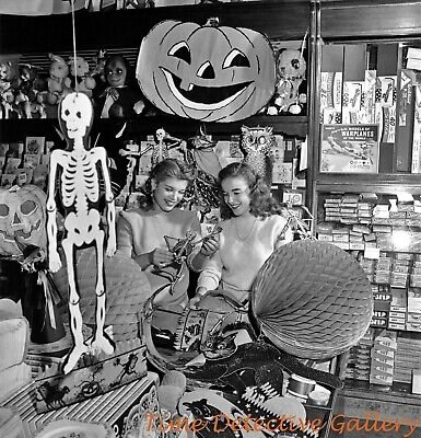 Shopping for Halloween - 1940s - Vintage Photo