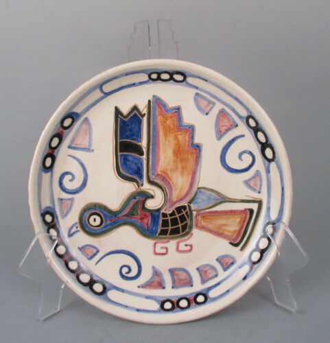 Modernist Art Deco Shearwater Pottery Plate Walter Inglis Anderson Flying Bird