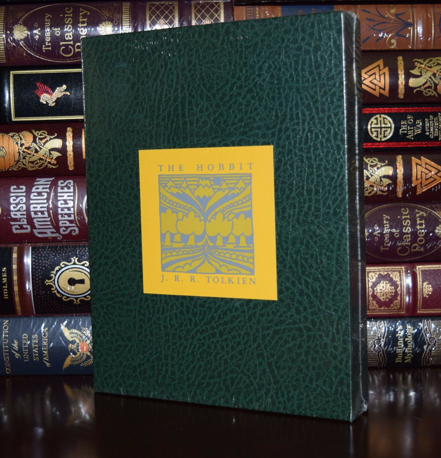 Купить The Hobbit by J.R. Tolkien Leather Bound Deluxe Collector's Slipcase 2 Day Ship