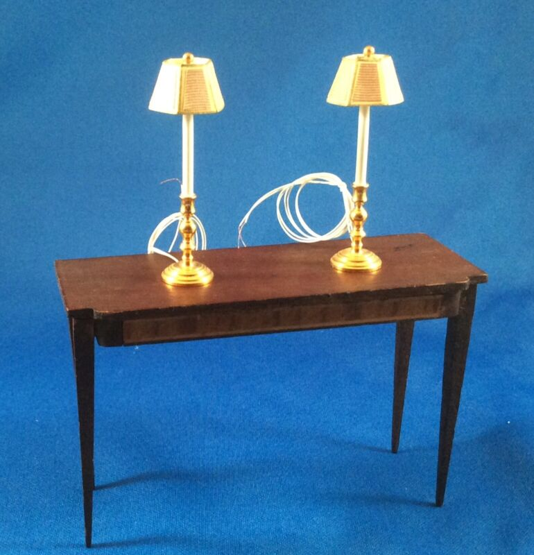 PAIR OF LIGHTS - DOLLHOUSE ELECTRIC LIGHTING - POSS. CLARE BELL