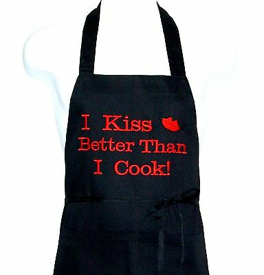 (Kissing Lips Apron, Funny Valentine's Gift, Personalized With Name, AGIFT 414)