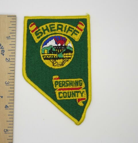PERSHING COUNTY NEVADA SHERIFF PATCH (Green Background) Vintage Original