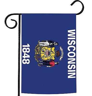 Toland Wisconsin State Flag 12.5 x 18 Patriotic USA Garden F