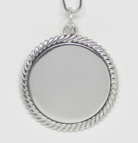 James Avery Sterling Silver Plain Polished Disk Charm Pendant Medallion JApnd1