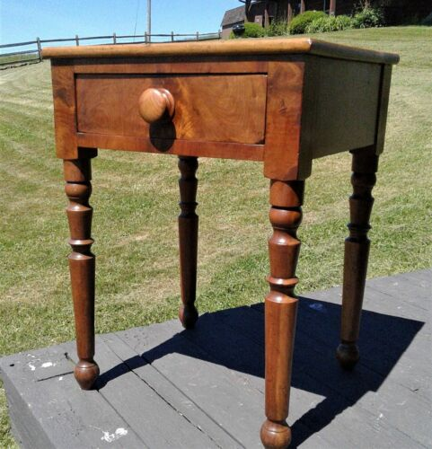 Antique Cherry One Drawer Night Stand 1870s Era