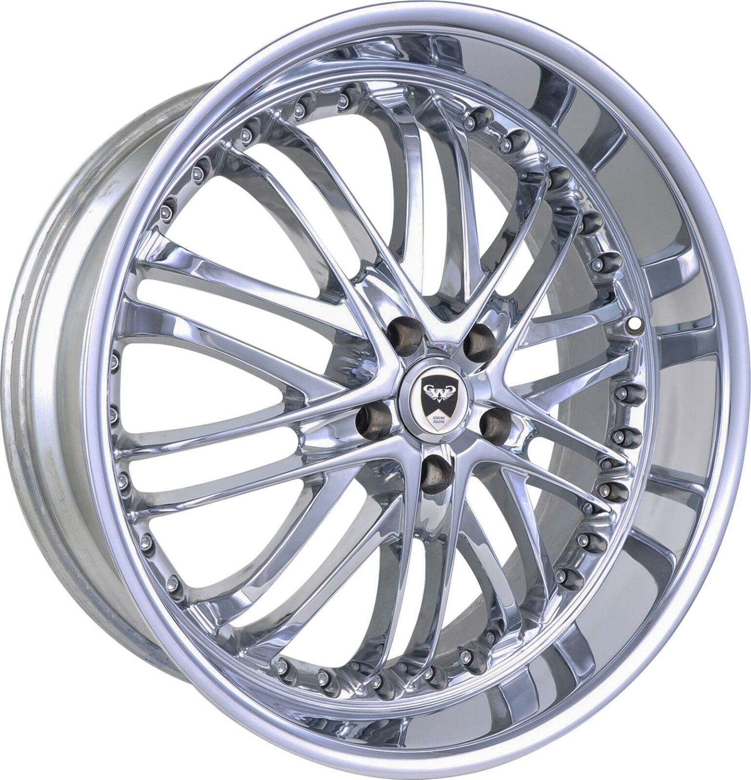 4 GWG Wheels 20 inch STAGGERED Chrome AMAYA Rims fits MASERATI COUPE 4200 2002