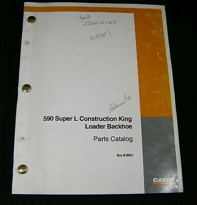 Case 590 Super L Construction King Loader Backhoe Parts Manual Book Catalog Oem