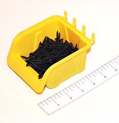10 New Yellow Parts Storage Bins - Hooks To Peg Tool Board - Workbench Pegboard