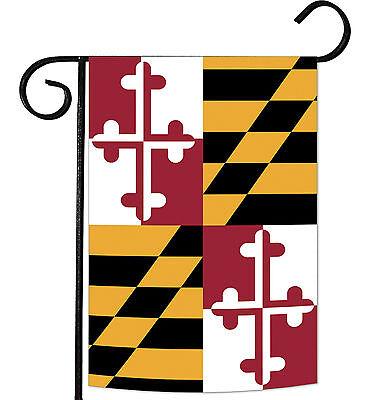 Toland Maryland State Flag 12.5 x 18 Patriotic USA Garden Fl