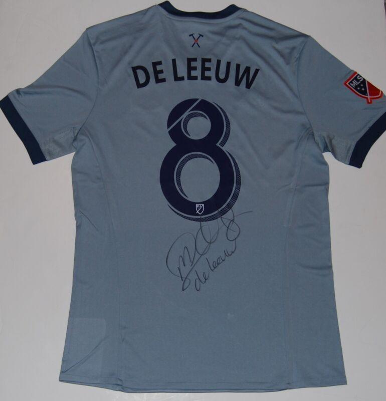 MICHAEL DE LEEUW signed (CHICAGO FIRE) MLS SOCCER autographed jersey W/COA