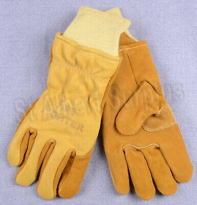 Firefighter Gloves - New - Medium - Made In Usa - 344hj