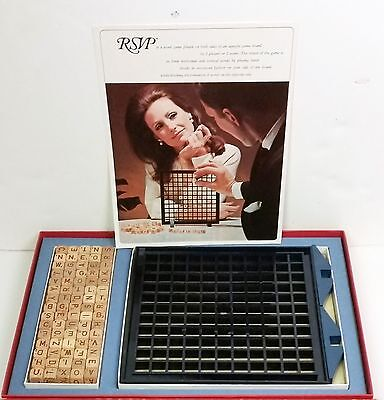 Vintage RSVP 3D scrabble with 75 original wood block letters and 3d board