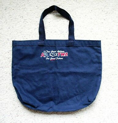 American Airlines / TWA - TOTE BAG - Two Great Airlines - One Great Future - NEW