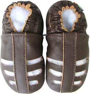 carozoo-sandals-plain-dark-brown-0-6m-soft-sole-leather-baby-shoes