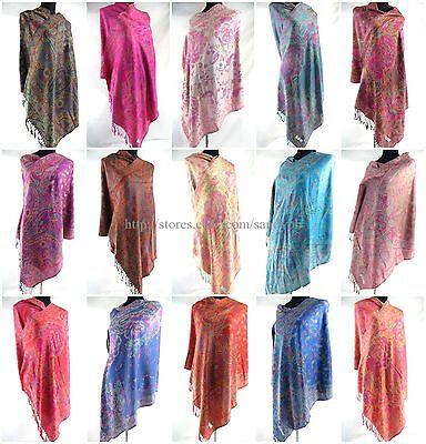 US SELLER-12pcs pashmina paisley shawl scarf cold weather shawl scarf