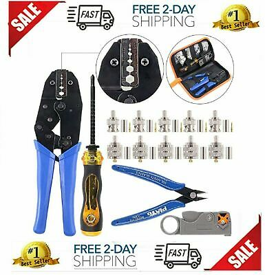 14pcs Professional Crimping Tool Kit Ratcheting Wire Terminal Crimper Tool Kit.