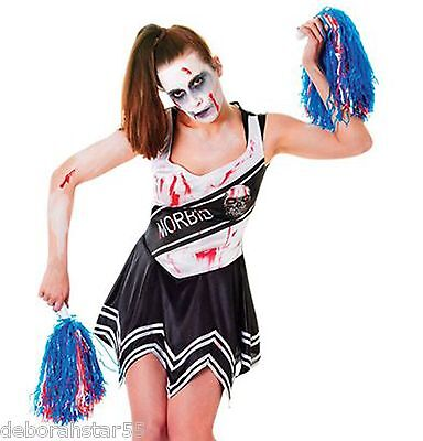 Zombie Cheerleader Dead School Girl Halloween Fancy Dress Costume 10-14](Halloween Dead School Girl)