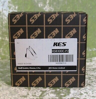 KES 2 Pieces Solid Metal Adjustable Wood / Glass Wall Mount Shelf Brackets NIB for sale  Shipping to India