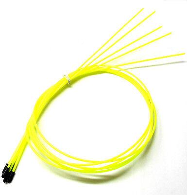 Coche RC Receptor Cable de Antena Tubo con Tapas 5 Amarillo Fluorescente...