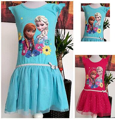 Kinder Mädchen Kleid Gr. 110 -134 Diseny Frozen - Disney Frozen Kleider
