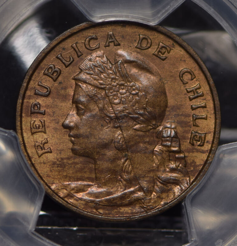 Chile 1907 So 2 1/2 Centavos PCGS MS63BN lustrous KM-162 PC0553 combine shipping