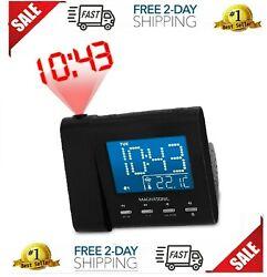 Magnasonic Projection Alarm Clock with AM/FM Radio, Battery Backup, Auto Time