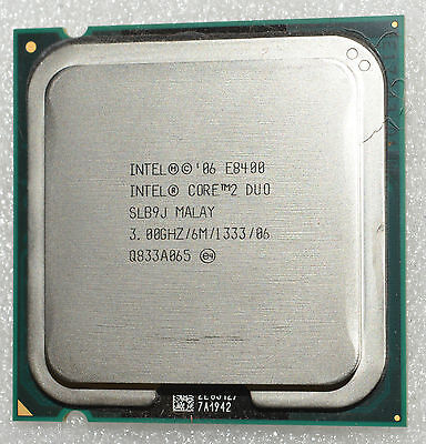 Intel Core 2 Duo E8400 PROCESSOR 3 GHz 6M 1333 UNBOXED CPU ONLY WARRANTY SALE!